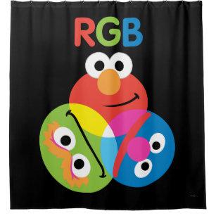 RGB Sesame Street Shower Curtain
