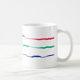 RGB Squiggles Classic White Coffee Mug