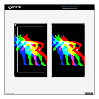 RGB Unicorn V02 Decals For Kindle Fire