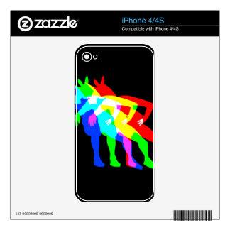 RGB Unicorn V02 iPhone 4S Decals