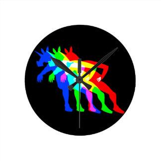 RGB Unicorn V02 Round Clock