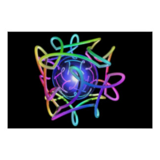 RGBCube - negro Póster