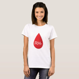 RH- Negative Blood Type Drop Mystery Spleeburgen T-Shirt