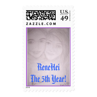 rh, ReneHeiThe 5th Year! Postage Stamp