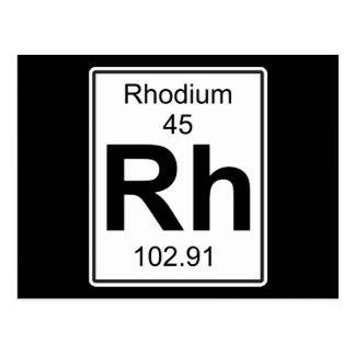 Rh - Rhodium Postcard