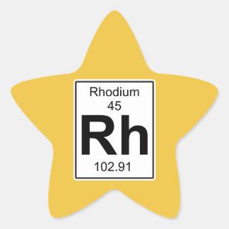 Rh - Rhodium Star Sticker