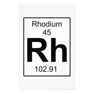 Rh - Rhodium Stationery