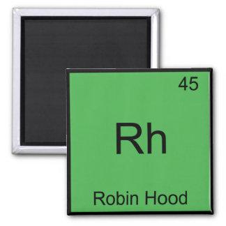 Rh - Robin Hood Funny Chemistry Element Symbol Tee 2 Inch Square Magnet