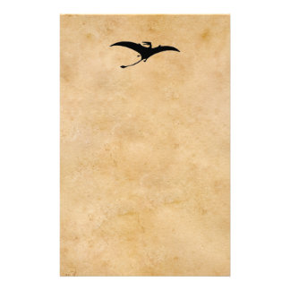 Rhamphorhynchus Dinosaur Stationery Design