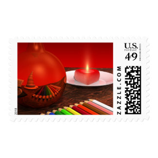 Rhapsodie in Red Postage Stamps