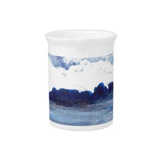 Rhapsody in Blue CricketDiane Ocean Waves Art Drink Pitchers