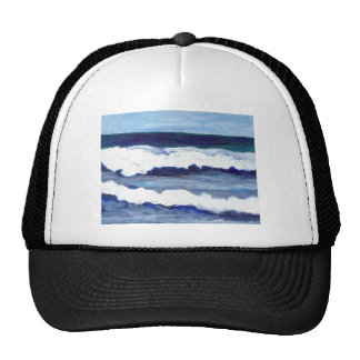 Rhapsody in Blue CricketDiane Ocean Waves Art Trucker Hat
