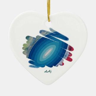 Rhapsody in Blue Heart Ornament