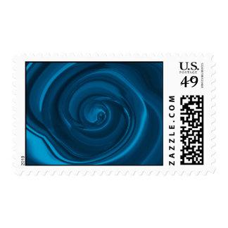 Rhapsody in Blue - Spiral Variations Postage Stamp