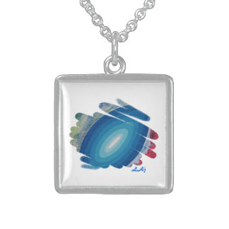 Rhapsody in Blue Square Necklace