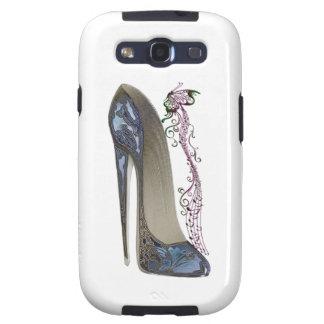 Rhapsody in Blue Stiletto Shoe Art Samsung Galaxy SIII Covers