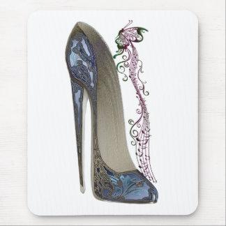 Rhapsody in Blue Stiletto Shoe Art Mouse Pad