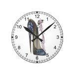 Rhapsody in Blue Stiletto Shoe Art Wall Clock