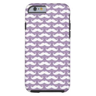 Rhapsody Purple Mustache Patterned iPhone 6 case