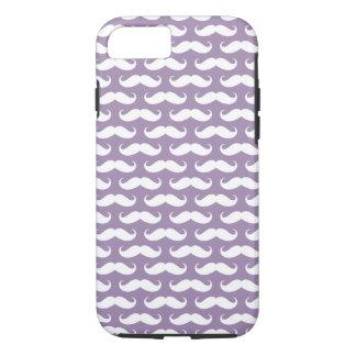 Rhapsody Purple Mustache Patterned iPhone 7 case