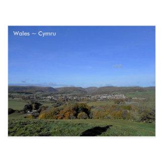 Rhayader, Wales Postcard