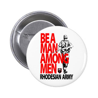 Rhdesian Army Recruiting Poster Pinback Button
