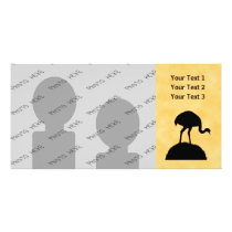 Rhea Bird Silhouette Design. Card