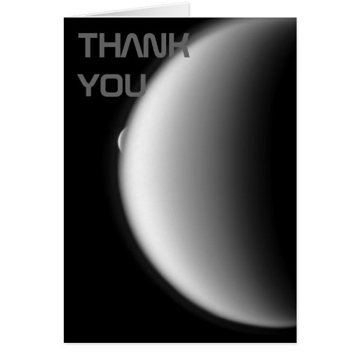 Rhea Emerges from Titan Thank You Note Card