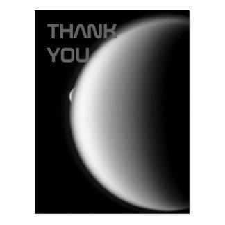 Rhea Emerges from Titan Thank You Postcard