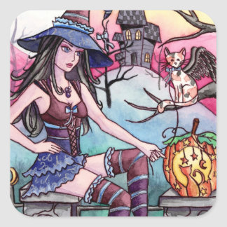 Rhea - Haunted House Witch Sticker