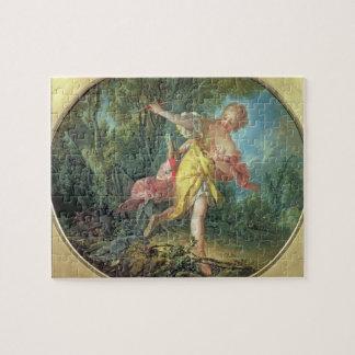 Rhea Sylvia que huye del lobo 1756 Rompecabezas