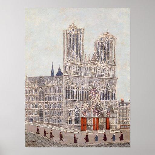 Rheims Cathedral, c.1923 Print