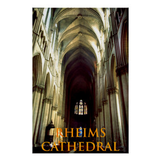 rheims cathedral poster