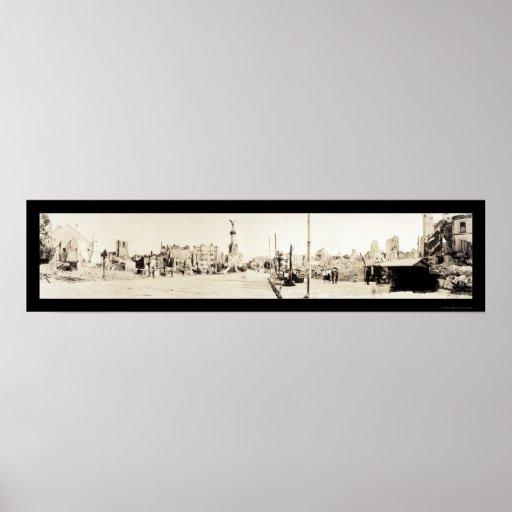 Rheims WWI Damage Photo 1918 Poster