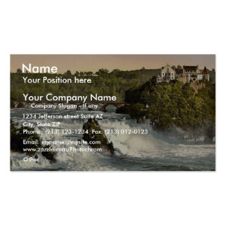 Rheinfall mit Schloss Laufen, Schiffchen. classic Business Card Template