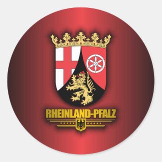 Rheinland-Pfalz COA Classic Round Sticker