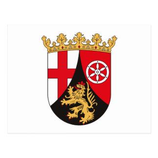 Rheinland Pfalz Coat of Arms Postcard