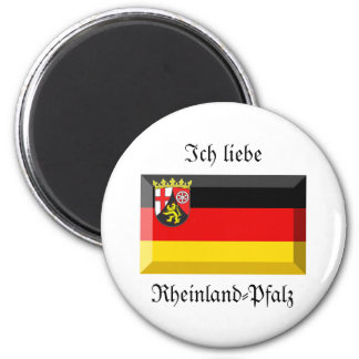 Rheinland-Pfalz Flag Gem 2 Inch Round Magnet