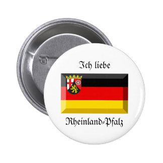 Rheinland-Pfalz Flag Gem Pinback Button