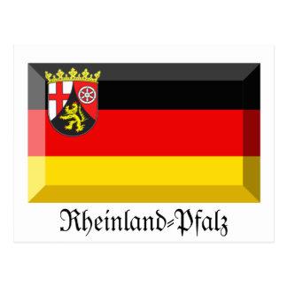 Rheinland-Pfalz Flag Gem Postcard