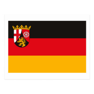 Rheinland Pfalz Flag Postcard