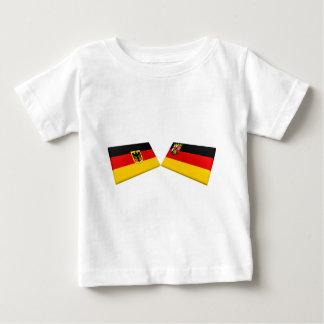Rheinland-Pfalz, Germany Flag Tiles Baby T-Shirt