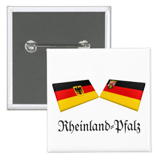 Rheinland-Pfalz, Germany Flag Tiles Pins