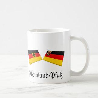 Rheinland-Pfalz, Germany Flag Tiles Coffee Mug