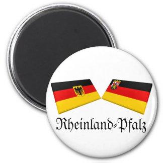 Rheinland-Pfalz, Germany Flag Tiles Magnets