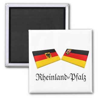Rheinland-Pfalz, Germany Flag Tiles Refrigerator Magnets