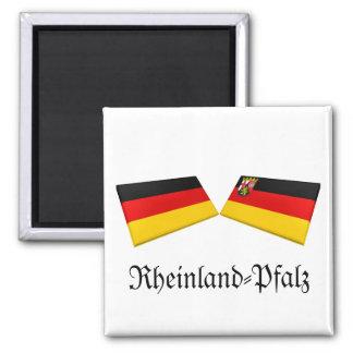 Rheinland-Pfalz, Germany Flag Tiles Refrigerator Magnet