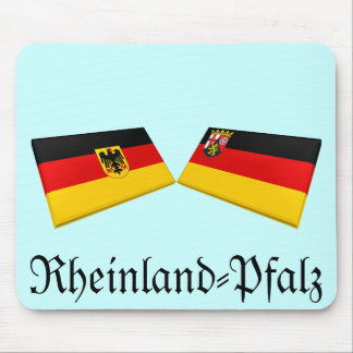 Rheinland-Pfalz, Germany Flag Tiles Mouse Pad