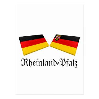 Rheinland-Pfalz, Germany Flag Tiles Postcard