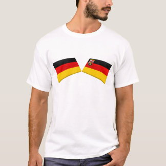Rheinland-Pfalz, Germany Flag Tiles T-Shirt